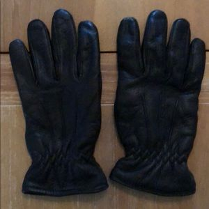 Men's leather winter gloves